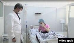 10-летняя дочь Рухшоны Ахмадовой после операции в Национальном центре трансплатации органов и тканей человека