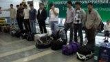 Tajikistan,Dushanbe city, tajik migrants in Dushanbe Interrnational Airport,23December2014