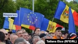 В Кишиневе прошел митинг против коррупции