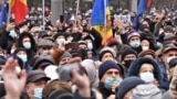 Moldova -- protest against Igor Dodon, called by president elect Maia Sandu
