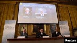 Объявление лауреатов Нобелевской премии по экономике, 10 октября 2016
