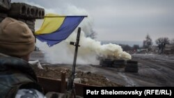 Украинская армия на подступах к Дебальцево