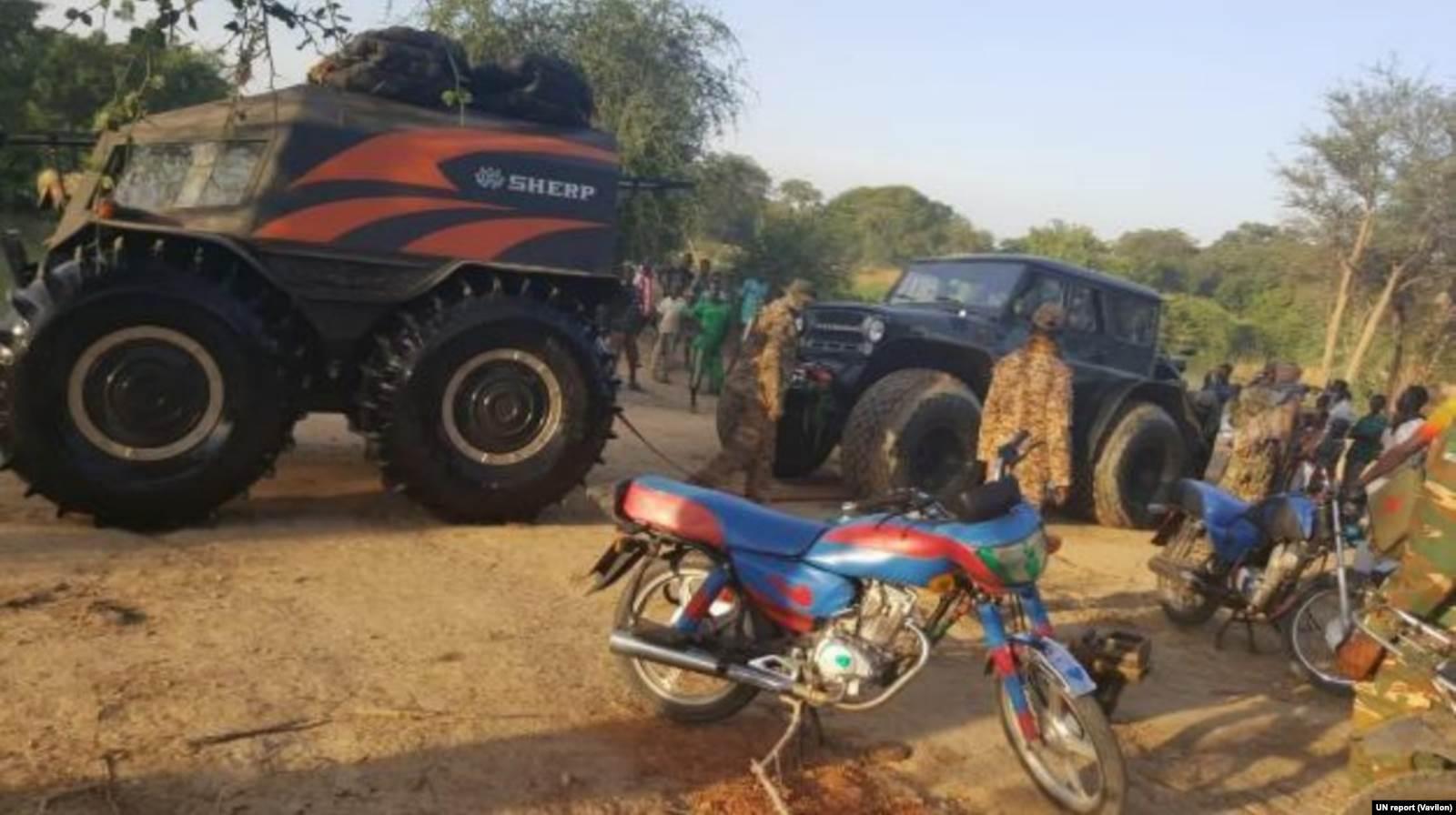 Вездеход «Шерп» в Центральноафриканской республике. Фото: отчет ООН