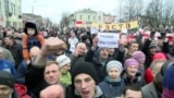 "Grab: Belarus -- ""parasite tax"" protest, Babruysk, 12Mar2017"