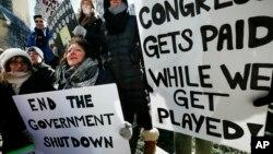 Протест госслужащих в Бостоне из-за шатдауна. 11 января 2019
