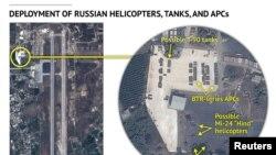 Спутниковые снимки строительства на аэродроме в Латакии, фото Stratfor