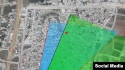 Карта удара, нанесенного российскими ВКС по Тель-Биссе, данные Руслана Левиева
