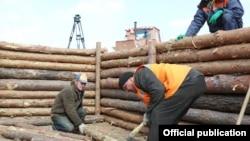 Fortofication in Charkiv, Ukraine