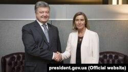 Порошенко и Федерика Могерини