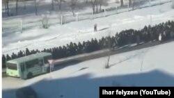 Похороны Юрия Зарубина в Амурске, скриншот из видеоролика
