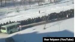 Кадр видео с похорон Зарубина