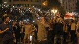 Протесты в Минске в ночь с 9 на 10 августа
