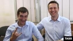 Братья Навальные в Замоскворецком суде Москвы