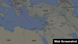 Рейс MS804 на сайте Flightradar24