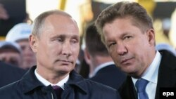 Владимир Путин с Алексеем Миллером