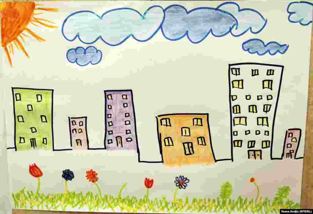 """""""Детский уголок"""" открыли власти Сербии совместно с UNICEF (детским фондом ООН) Рисунок 4-летнего Ахмеда из Сирии"""