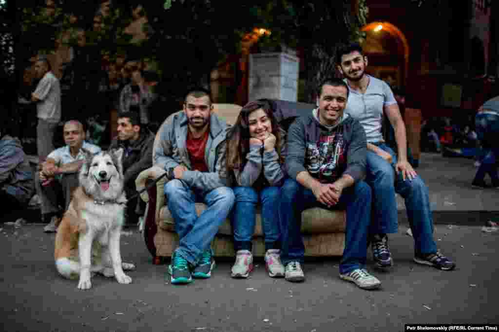 За понижение цен на электроэнергию выступают даже животные Фото от 27 июня с проспекта Баграмяна