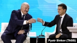 Встреча Александра Лукашенко и Владимира Зеленского в Житомире, Украина, 4 октября 2019 года. Фото: ТАСС