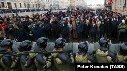Протесты в Петербурге 31 января 2021 года