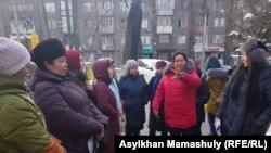 Протесты матерей в Алма-Ате