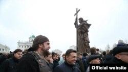 Открытие памятника Владимиру в Москве
