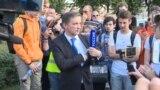 """Вот так на протесте в Москве встретили журналиста телеканала """"Россия 1"""""""