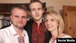 Андрей Витушко с женой Кристиной и сыном Мироном