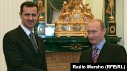 Башар Асад с президентом РФ Владимиром Путиным