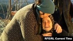 Родственники Мачаликашвили во время похорон