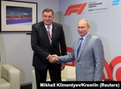Додик на встрече с Владимиром Путиным