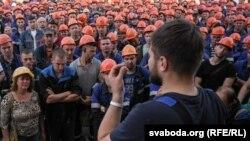 """Забастовка на """"ГродноАзот"""", 19 августа 2020 года"""