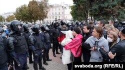 Протестующие и милиция в Гомеле, 27 сентября 2020 года