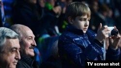 Лукашенко-младший на открытии Олимпийских игр в Сочи