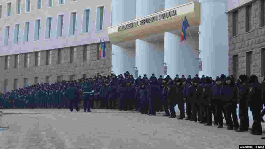 Moldova - anti-government protests. 21 january 2016