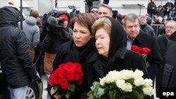 Наина Ельцина и дочь Ельцина Татьяна Юмашева на похоронах Ельцина