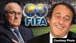 Многолетний глава ФИФА Йозеф Блаттер и глава УЕФА Мишель Платини