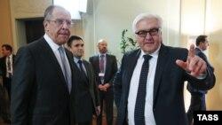 Министр иностранных дел России Сергей Лавров и министр иностранных дел Германии Франк-Вальтер Штайнмайер, Берлин, 6 ноября 2015
