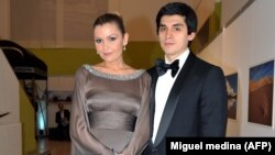 Лола Каримова с мужем Тимуром Тилляевым