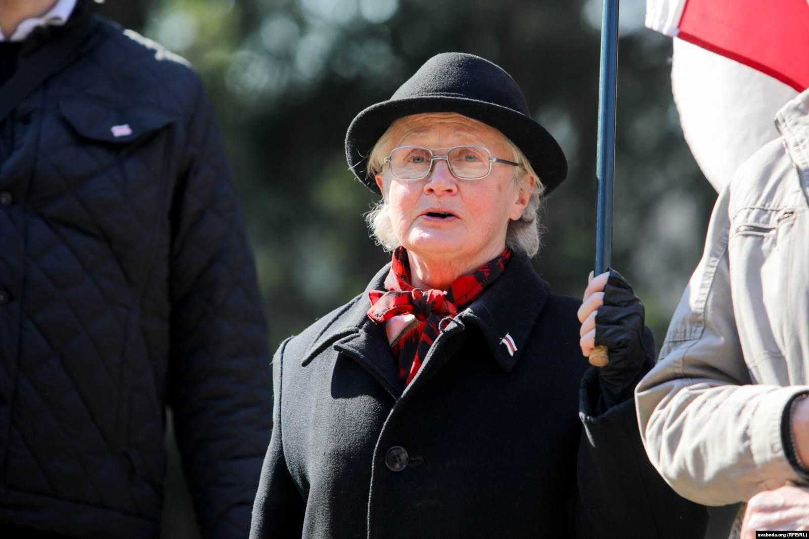 Нина Багинская в Куропатах, 5 апреля 2015 года. Фото: svaboda.org (RFE/RL)