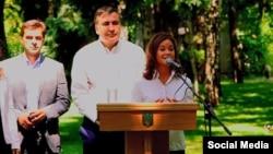 Михаил Саакашвили представляет Марию Гайдар на посту заместителя губернатора Одесской области