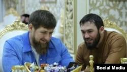 Ramzan Kadyrov (left) and Magomed Daudov (from Daudov's Instagram account)
