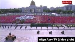 Военный парад в Ашхабаде в честь Дня независимости, 27 сентября 2019 года