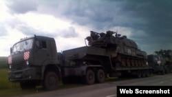 """""""Бук"""", из которого предположительно был сбит самолет в Луганской области, во время транспортировки из Россию в Украину летом 2014 года"""