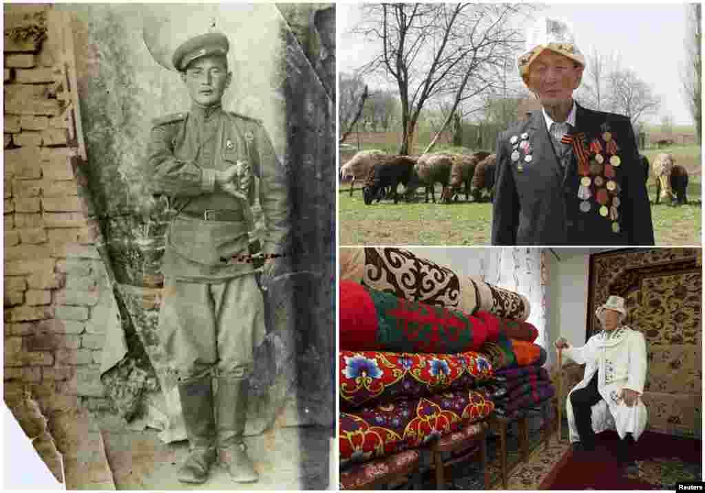 Абла Бегалиев, 92. Кыргызский офицер являлся служащим украинской пограничной кавалерии с февраля 1942 по апрель 1947