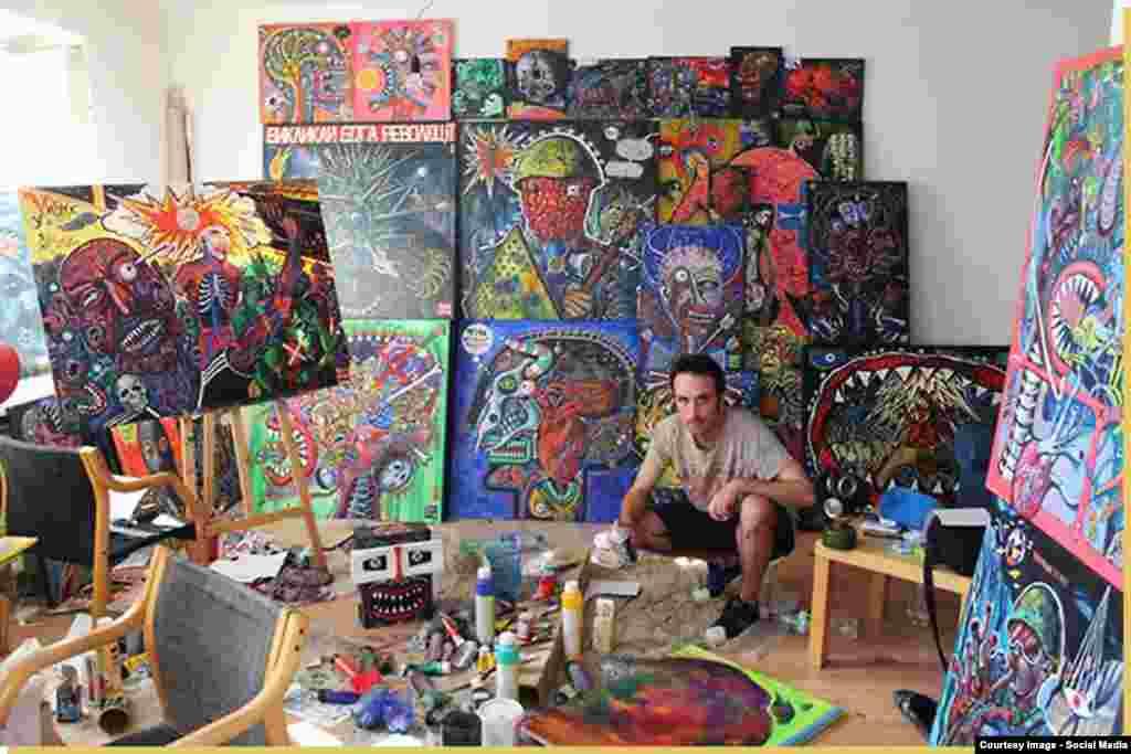 Олекса Манн в мастерской