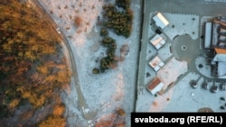 """Снимок с дрона территории ресторана """"Поедем Поедим"""", 16 января 2018. Фото: svaboda.org"""