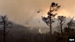 Тушение пожаров на Байкале