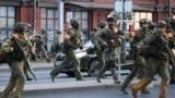 Belarus -- police shoots at journalists, Nasha Niva journalist Natallia Lubnieuskaja wounded