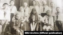 Фотография этнических кыргызов, которых сослали в советскую Украину