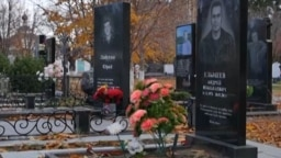 Grave of alleged Vagner fighter Andrei Elmeyev in Tolyatti, Russia